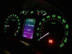 Škoda Octavia II. RS 2.0 TFSI - budiky